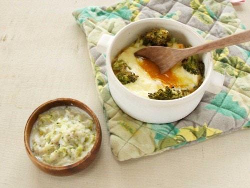 魚とブロッコリーの米粉クリーム煮
