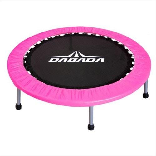DABADA  ダバダ トランポリン 大型102cm  耐荷重110kg  簡単組立 子供から大人まで使用  ピンク