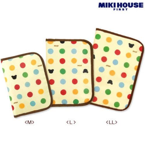 ミキハウス ベビーBBB カラフル水玉 母子手帳ケース Mサイズ