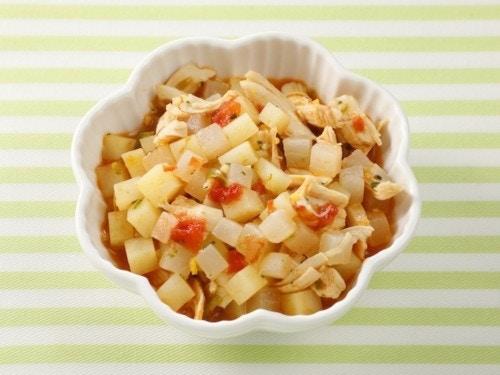 カブとジャガイモのトマト煮