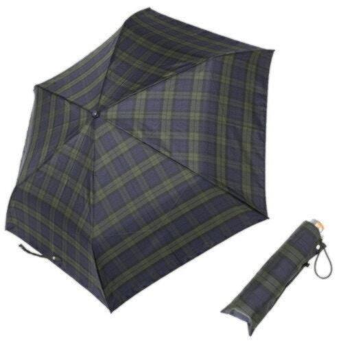 サンマルコ 折りたたみ傘 55cm スクール タータンチェック グリーン 146