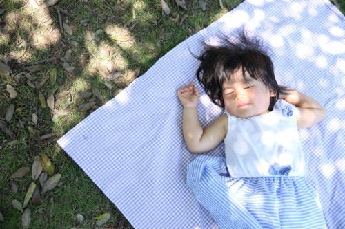睡眠 ピクニック 赤ちゃん