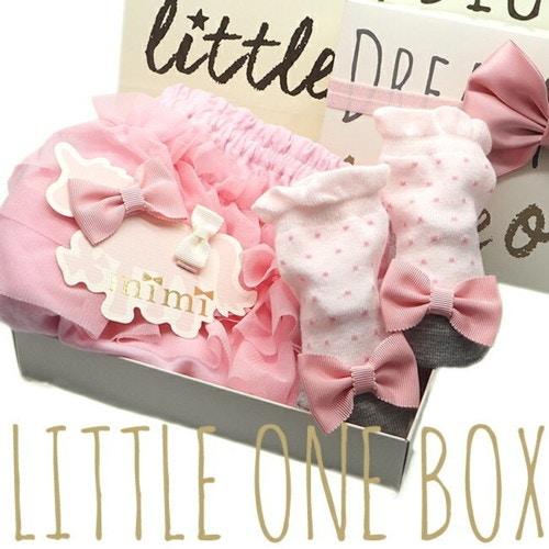 PLATINUM BABY(プラチナムベイビー) LITTLE ONE BOX 3段チュールブルマ 靴下セット littleb001-3