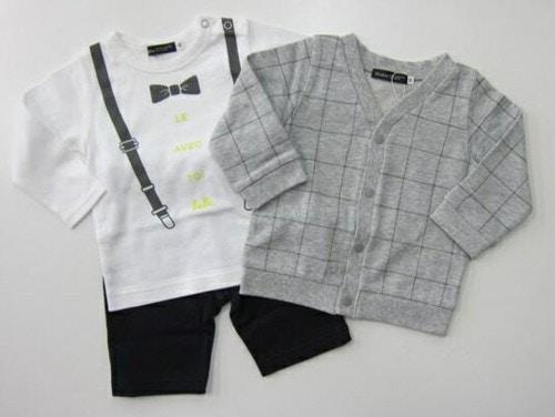 べべベビー BOYSカーディガン+Tシャツ+パンツ 3点セット