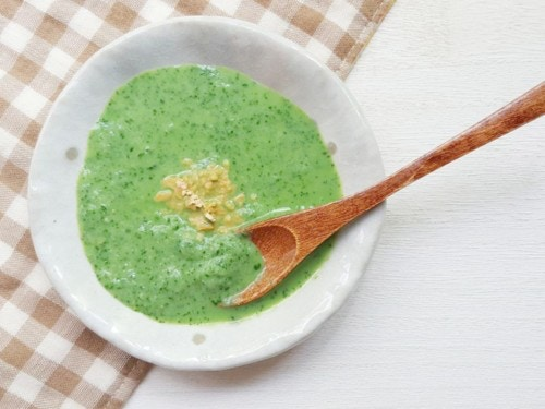 お魚と小松菜の豆乳スープ