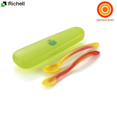 リッチェル おでかけランチくん離乳食スプーンセット(ケース付き) 4973655418109