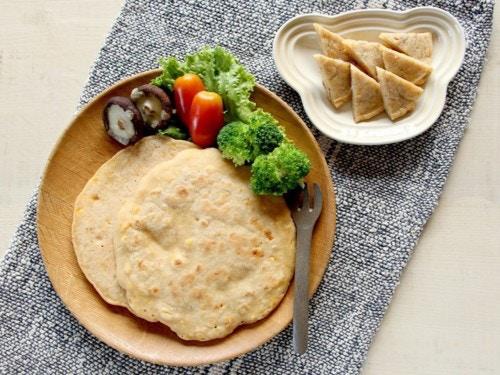 米粉とコーンのパンケーキ