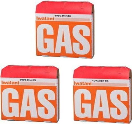 イワタニ カセットガス オレンジ 3本パック×3点セット CB-250-OR