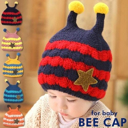 蜂くんニット帽