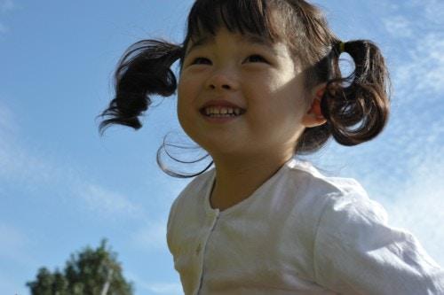 2歳 笑顔