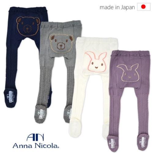 AnnaNicola(アンナニコラ)ベビー&キッズ・アニマルフェイスケーブル編みタイツ