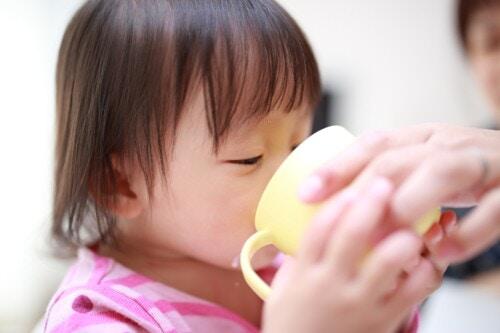 麦茶 飲む ママ 子ども