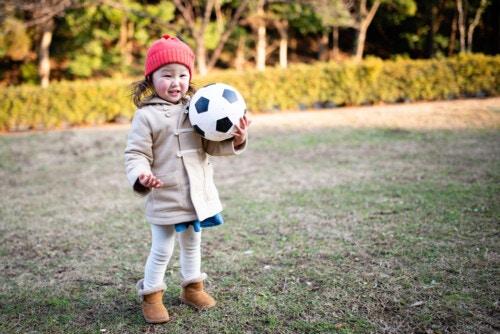 子供 冬 公園